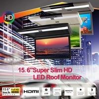 15,6 дюймов флип вниз светодиодный монитор с HDMI Вход 1920X1080 цифровой панели + 1080 P декодирование видео + TF + USB + СПК IR + FM + HDMI Вход