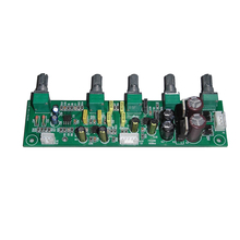 цена на NE5532 Subwoofer Preamplifier 2.1 Preamp Tone Board Treble Bass Ultra low frequency Independent Adjustment Dual AC12V