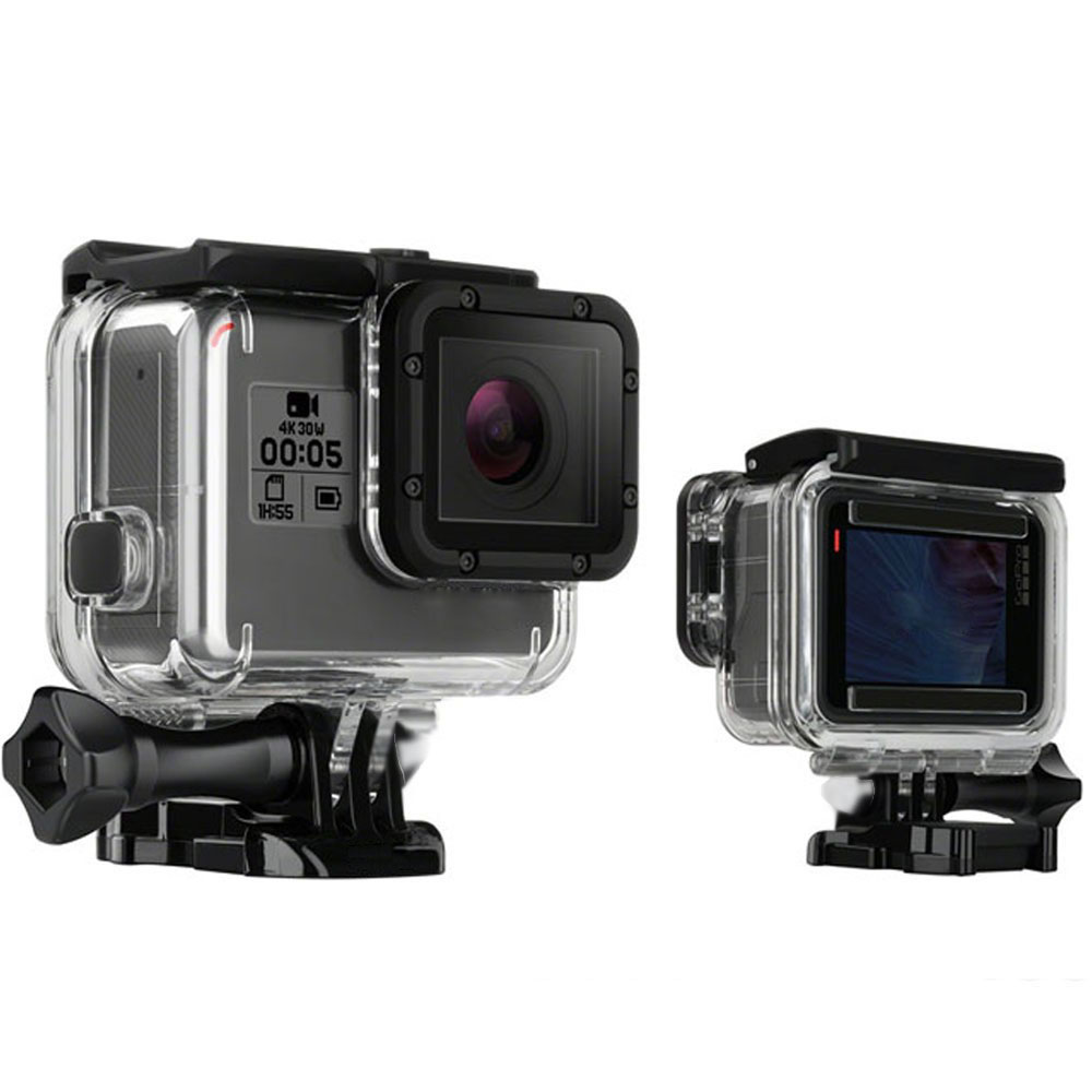 for gopro hero5 hero6 45m waterproof case gopro underwater. Black Bedroom Furniture Sets. Home Design Ideas