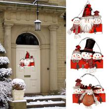 Innovative Christmas Flannel Santa Snowman Door Hanging Telephone Wire Pendants Party Decoration for Home Kids Gift