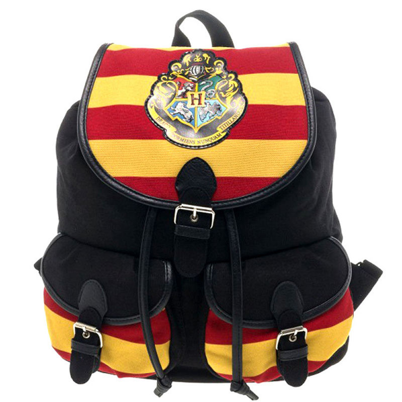 ZXZ Harri Hermione Hogwarts Potter Bag Toys Backpack SchoolBag Model Gryffindor/Ravenclaw/Hufflepuff/Slytheri Magic Badge Gift cotton hogwarts harri cosplay potter toys college gryffindor slytherin baseball hat summer cap hip hop magic hats toys for child