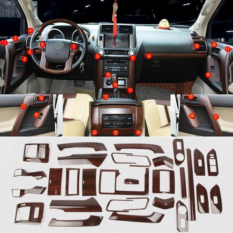 Peach Wood Grain Steering Wheel Decorative Cover Trim For Cadillac XT5 2020