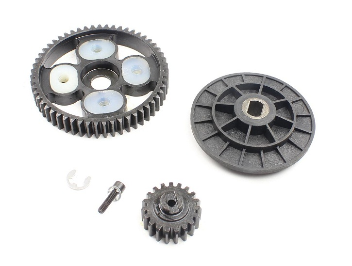55T/19T High Speed Metal Gear Set for1/5 HPI baja 5b KM ROVAN rovan baja cnc gear box assembly gear component differential general hpi
