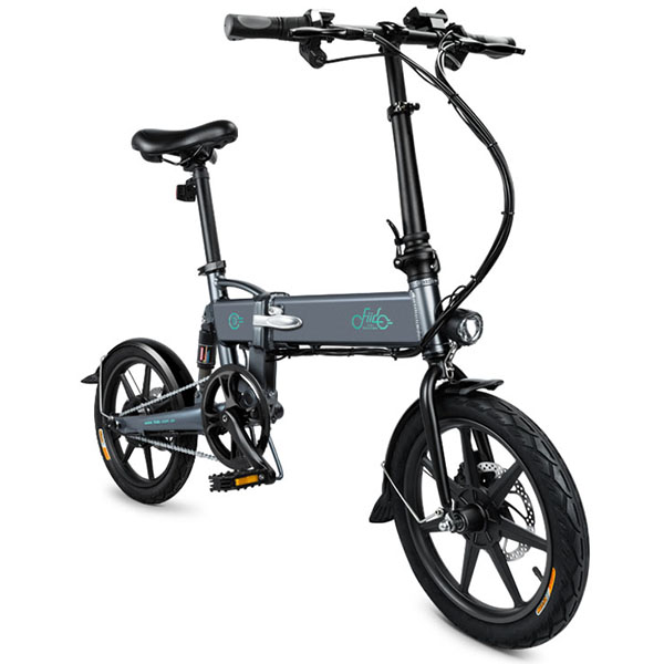 FIIDO D2 Smart Electric Bike Bicycle 250w Motor Moped Folding Electric Bicycle with Double Disc Brakes Charger 7.8Ah Battery battery car brakes