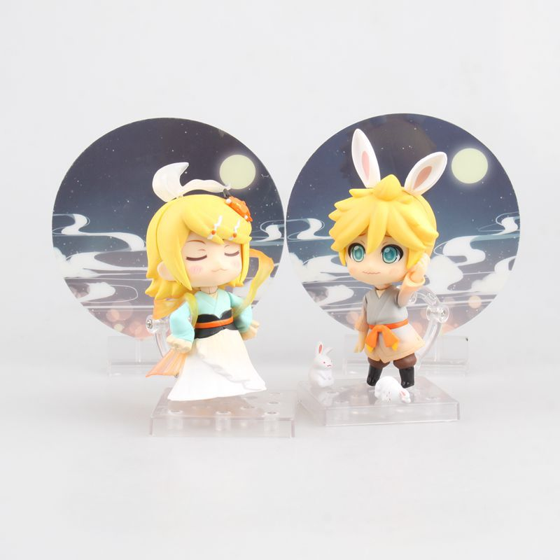Anime Nendoroid Action Figure VOCALOID Hatsune Miku 768 Kagamine Rin 769 Ren Len Harvest Moon Ver PVC 10CM Cute Decoration Toy