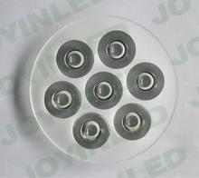 7x1 w diâmetro 69mm h: 11mm de alta potência led grânulo chip pmma lente transparente transmitância de luz: 95% suporte da lente