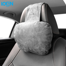 LOEN 2018 brand new Car Headrest Neck Pillow For Benz Maybach Super Soft Suede Cover Seat Support Cushion Universal All