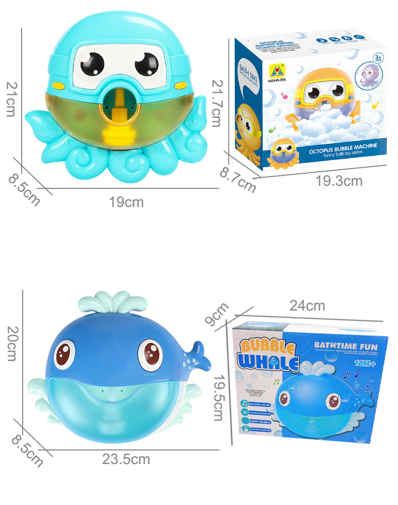Outdoor Bubble Frog&Crabs Baby Bath Toy Bubble Maker Swimming Bathtub Soap Machine Toys for Children With Music Water Toy