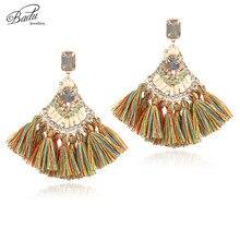 Badu Baroque Ethnic Earring Black Tassel 4  Colors Women Earrings Winter Fashion Jewelry Elegance Christmas Party