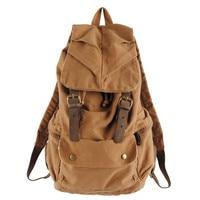 Men S Vintage Rucksack School Bag Satchel Canvas Leather Backpack Hiking Bag Women Freeshipping