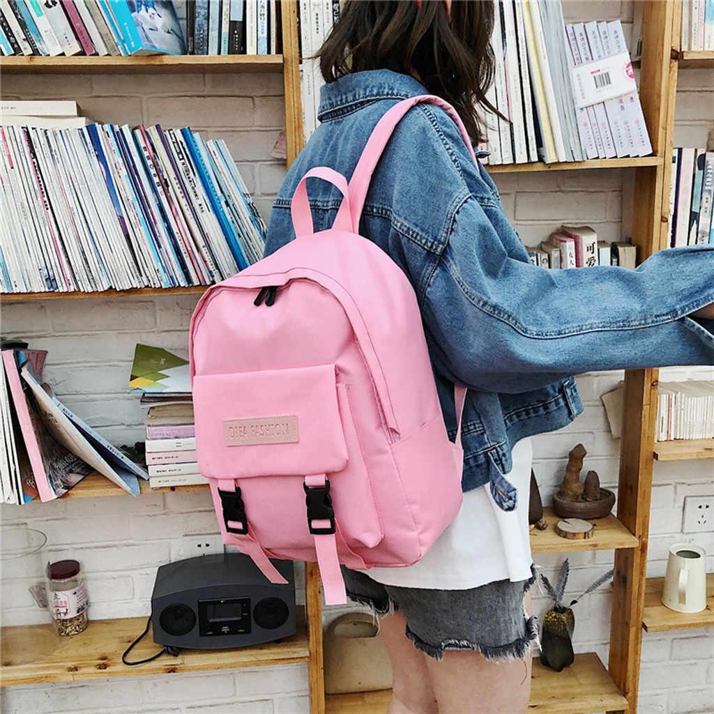 Carteras bolsos de hombro mujer y das mulheres Cor Da Moda Doces Mochila Meninas Pequenas Mochilas Escolares mochilas Sacos de Ombro