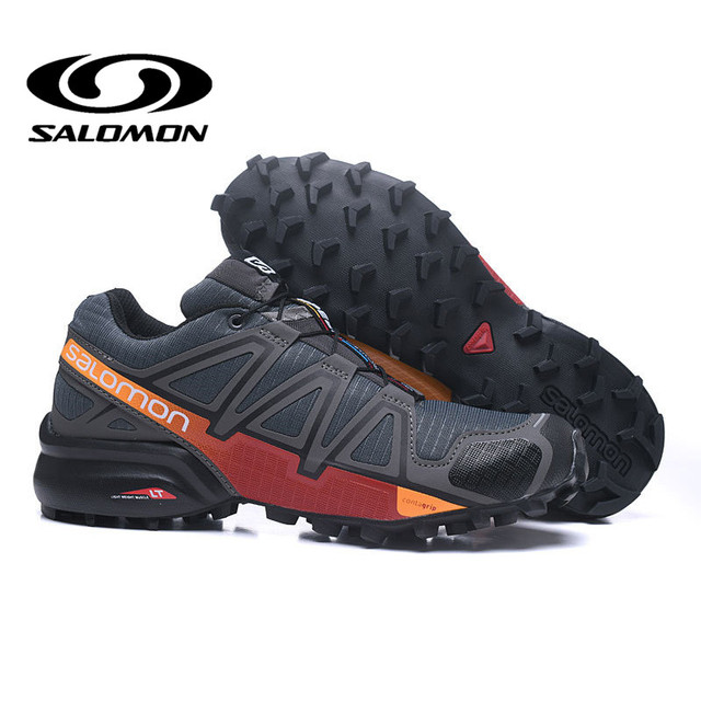 2018 New arrivel Salomon Shoes Men Speed Cross 4 CS Cross-country Outdoor Shoes SPEEDCROSS 4 Eur40-46 Elastic Band Trekking Shoe