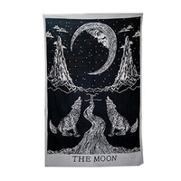 Indian Mandala Tapestry Aubusson Colored Printed Decor Mandala Tapestry Religious Boho Wall Carpet Yoga Wolf Blanket