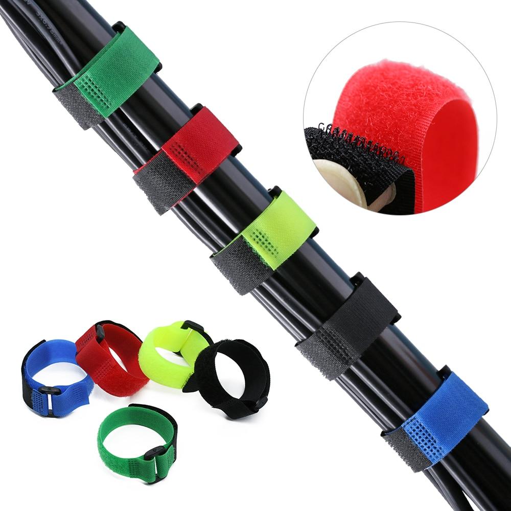 Multicolor Non-slip Bandage Fishing Rod Tie Nylon Reusable Belt Holder