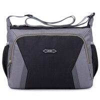 Модная женская сумка через плечо Повседневная нейлоновая сумка-мессенджер многослойная женская сумка Bolsos Sac основная дорожная сумка для по...