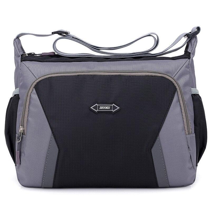 Moda Feminina Crossbody Bag Bolsa de Ombro Ocasional Mensageiro Saco de Nylon Multicamadas Feminino Bolsos Sac A Principal Bolsa De Viagem saco de Compras