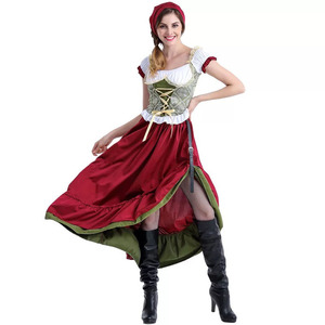 Image 3 - Adult Women Bavarian Oktoberfest Dirndl Costume Beer Festival Mardi Gras Ladies Sexy Funny Dress Long Outfit For Girls Plus Size