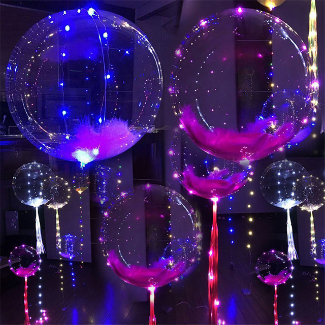 Fairy Novelty Light LED Cooper Wire String Lights Flasher Lighting Balloon  18 Inch Wave Ball Christmas