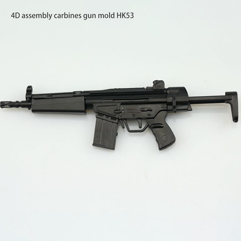 1 6 Scale Soldier 4D Assembly Rifle Carbine Gun Model HK53 Send Rack Fit 12 Inch Soldier Action Figure Dolls Accessories in Action Toy Figures from Toys Hobbies