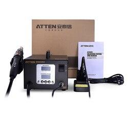 AT8502D stacja lutownicza 2 w 1 ATTEN AT8502D stacja lutownicza bez ołowiu stacja lutownicza SMD ATTEN 8502D zaawansowane gorące powietrze|Elektryczne lutownice|   -