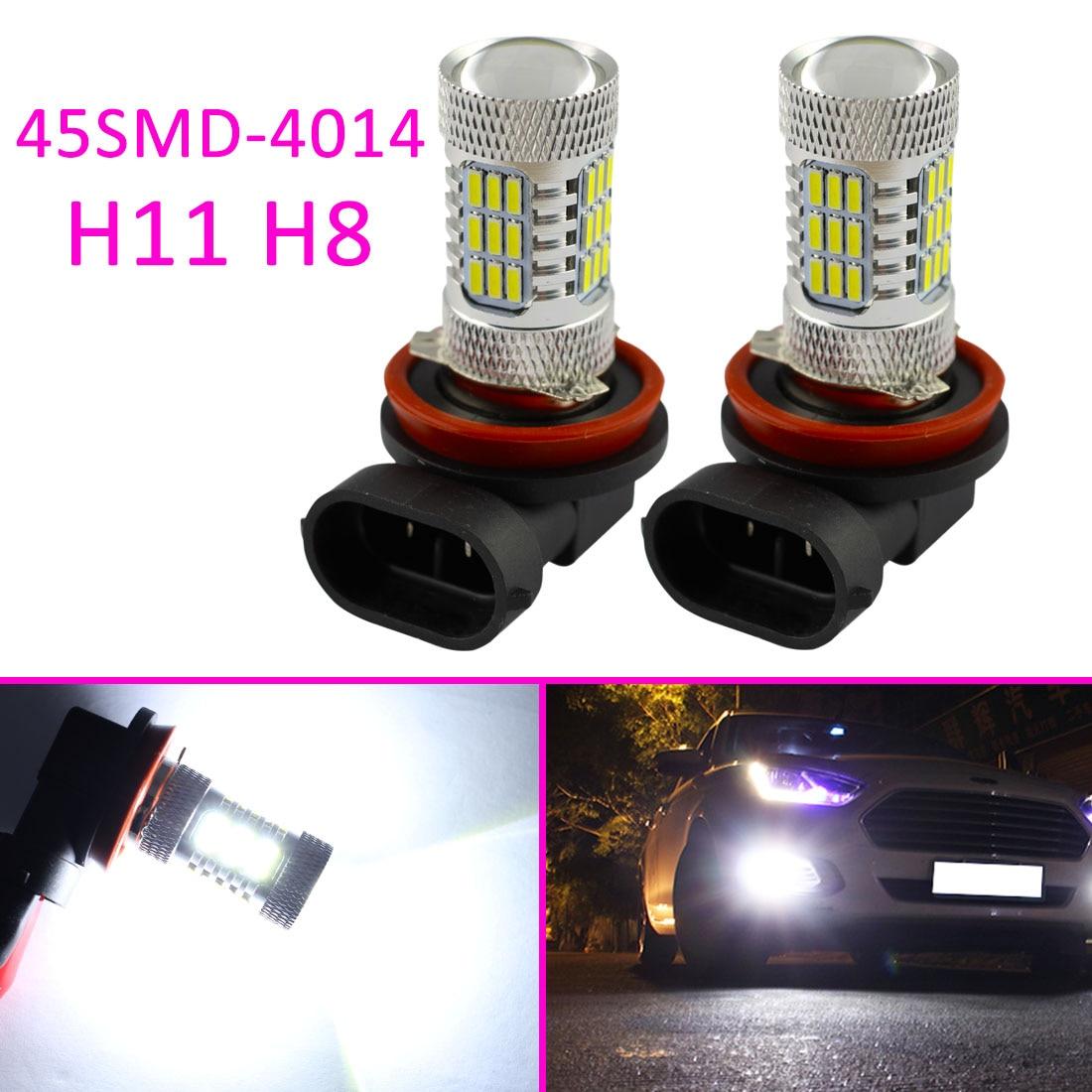 Auto Fog Light Bulb LED H11 H8 Accessories Truck Foglight DRL Lens Projector Lamp Len Driving