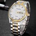 Top Brand Luxury Men Watches  Day Date Hour Clock Silver Steel Strap Casual Quartz Watch Men Sports Wrist Watch Male Relogio