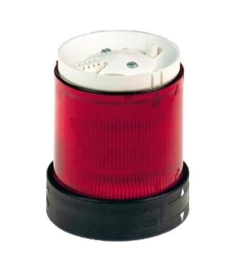 XVBC2M4  Illuminated unit for modular tower lights, plastic, red, Ø70, steady, integral LED, 230 V AC