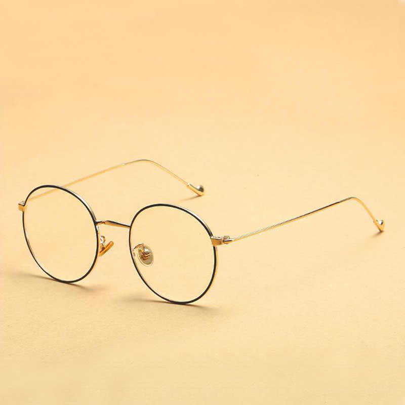 07f65d1b89d ... Dokly 2017 round frame glasses Vintage Woman Glasses Frame Classic  Eyeglasses round Frames Women s Glasses ...