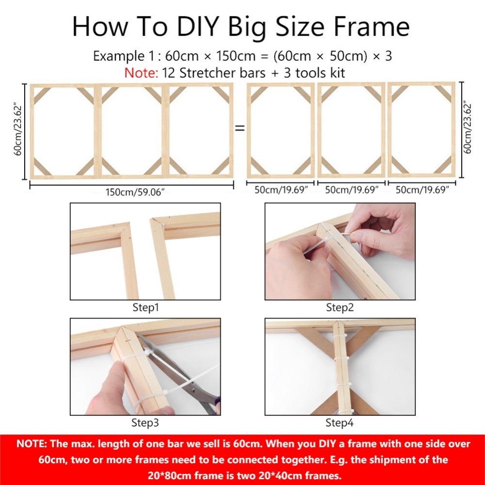 DIY Wooden Canvas Frame For Oil Painting Canvas Print Painting Frames Gallery Canvas Stretcher Bar Christmas Decoration For Home in Frame from Home Garden