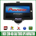 7 inch Car truck vehicle MTK GPS Navigation 800Mhz FM DDR3 128M 4GB FM OS CE6.0 navitel/espanol/Europe/USA/spanish navigator