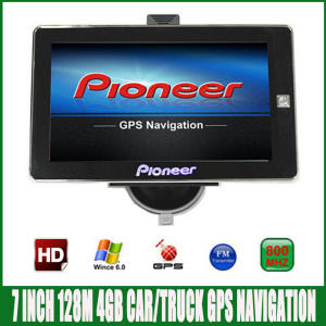 7 inch Car truck vehicle MTK GPS Navigation 800 Mhz FM DDR3 128 M 4 GB FM OS CE6.0
