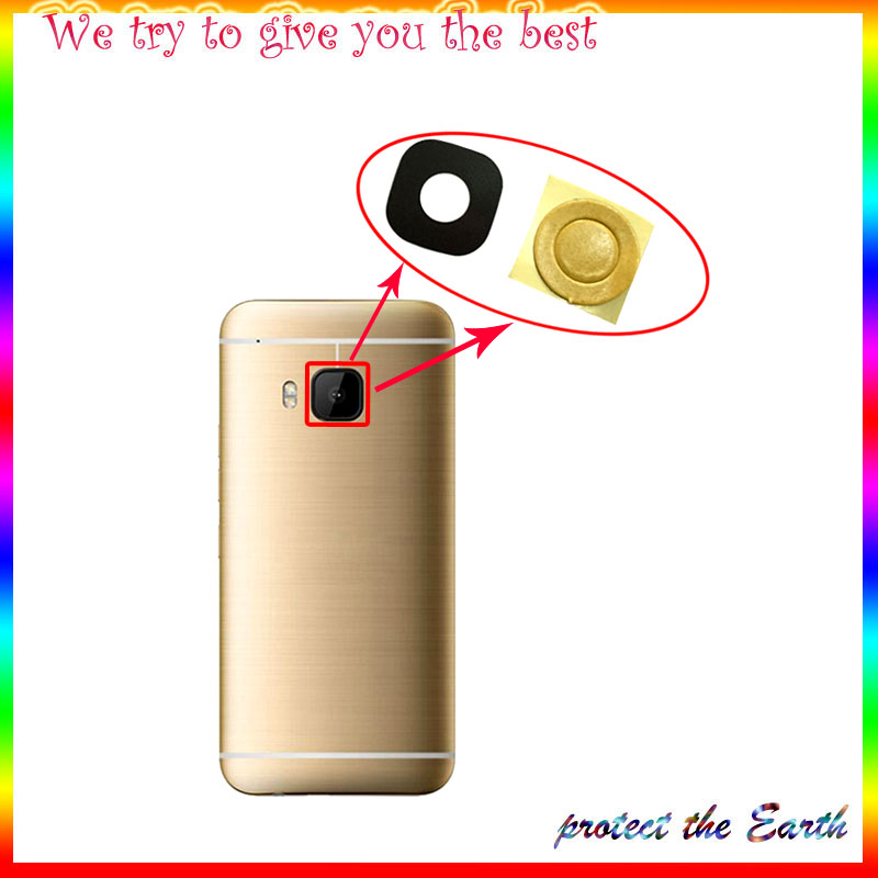 2pcs/lot Original New Rear back Camera Glass For HTC One M9 M8 M7 GLASS Camera Lens Glass In Mobile Phone Parts Replacement
