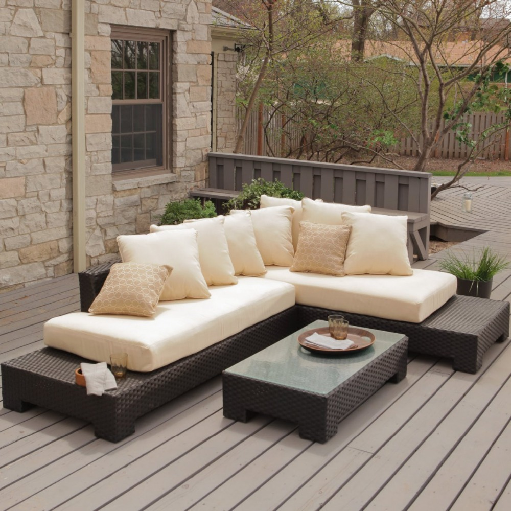 Trade Assurance Outdoor Furniture Rattan Garden Sofa Sets
