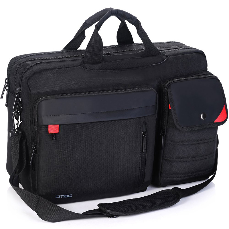 DTBG 17 Large Capacity Casual Laptop Handbag for Men Women Waterproof Business Travel Shoulder Bag for up to 17.3 Inch Notebook voyjoy t 530 travel bag backpack men high capacity 15 inch laptop notebook mochila waterproof for school teenagers students