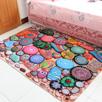 superior quality Retro exotic carpet muslim rug Ethnic Fashion Bedside carpet Northern Europe Tatami mat non slip floormat
