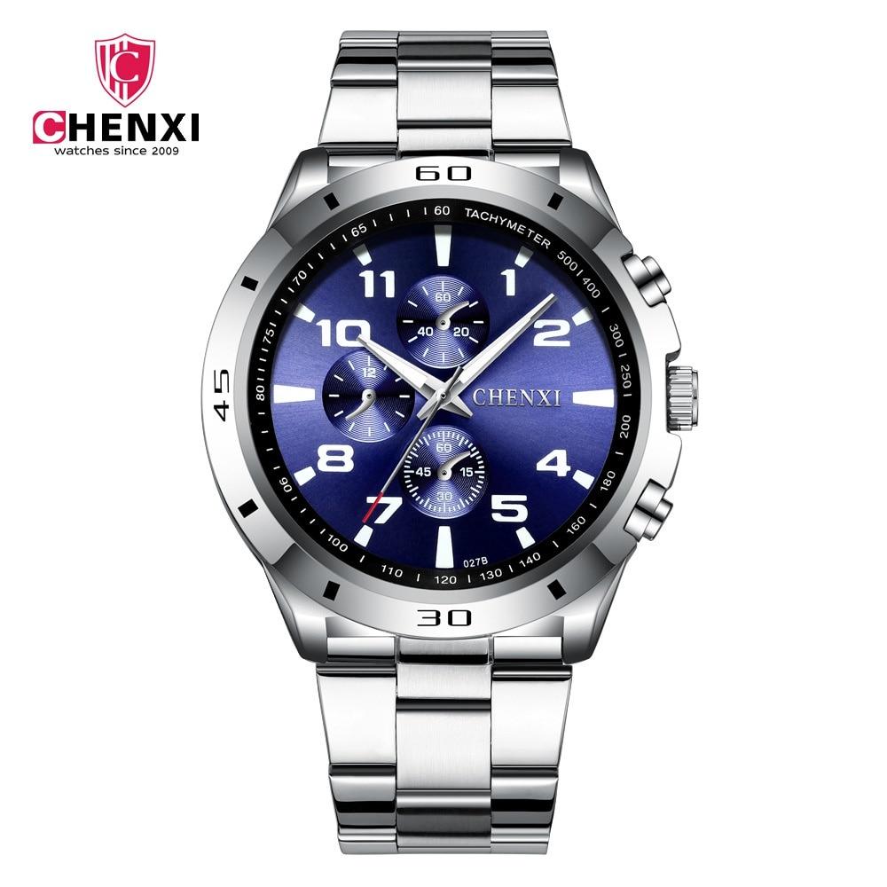 Fashion Men Watches Unique Stylish Male Sport Casual Dress Sport Wristwatch Waterproof Big Dial Silver Men's Clock Best Gift