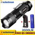 2000 Люмен Мини-Торша Фонарик Led Потенте Linterna CREE Q5 LED Гладиатор Фонарик 3 Режима Масштабируемые LED Факел Фонариком