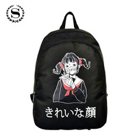 Korean And Japanese Style Cute Girls Canvas Backpacks Student School Bags Travel Hiking Rucksacks Candy Color