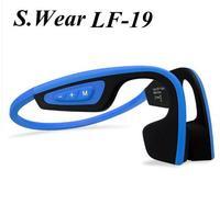 3colors S Wear LF 19 Wireless Bluetooth Headset Waterproof Stereo Neck Strap Headphone Bone Conduction NFC
