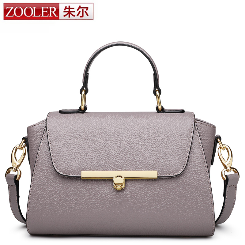 ZOOLER Brand Designer Women Bags Handbag 100% Genuine Leather Fashion Real Leather Luxury Handbag Shoulder Crossbody Trapeze Bag sales zooler brand genuine leather bag shoulder bags handbag luxury top women bag trapeze 2018 new bolsa feminina b115