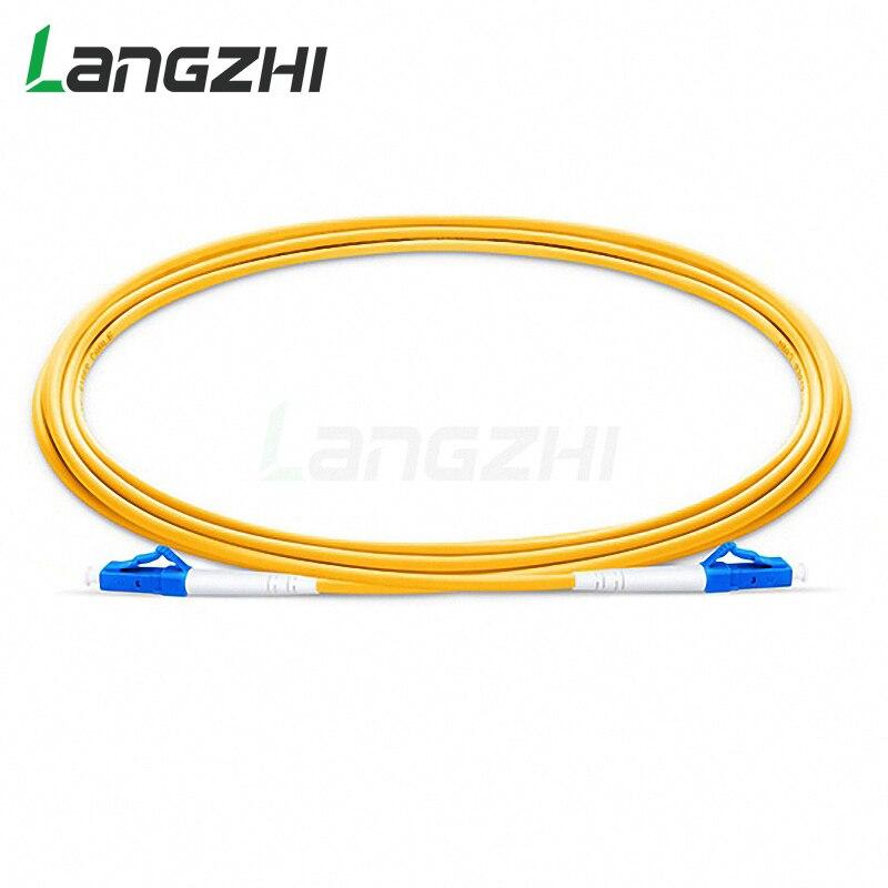 10 pces lc upc para lc upc simplex 2.0mm 3.0mm pvc único modo fibra cabo de remendo cabo de fibra em ponte fibra optica