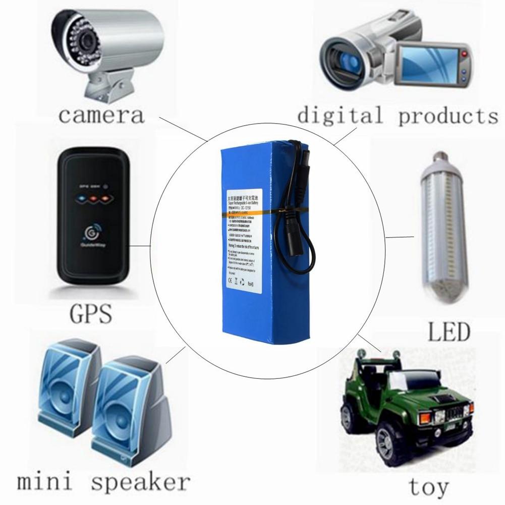 DC 122000 20000 mAh Batterie Au Lithium Rechargeable Li-ion Batteries pour DVD Caméra Sans Fil Émetteur @ JH