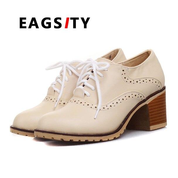 Zapatos blancos de primavera de punta redonda casual para mujer iopeJfQ4CY