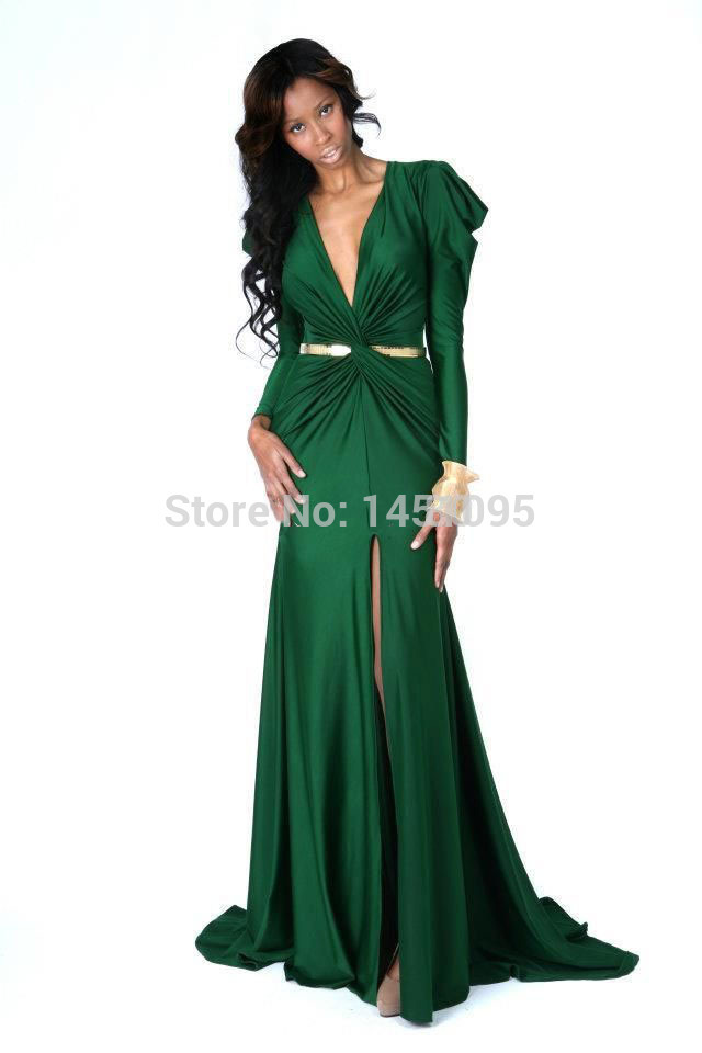 Aliexpress.com : Buy Sexy Pleats With Gold Sash Chiffon Elegant ...