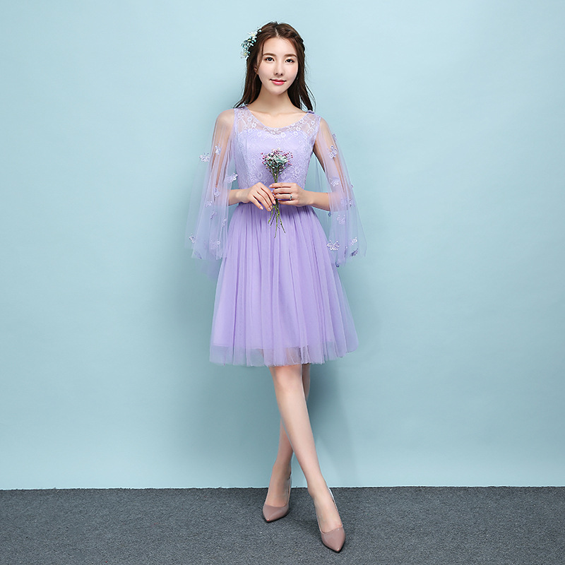 2018 Popodion violet bridesmaid dresses sister wedding party dress ... 4d25a1603519