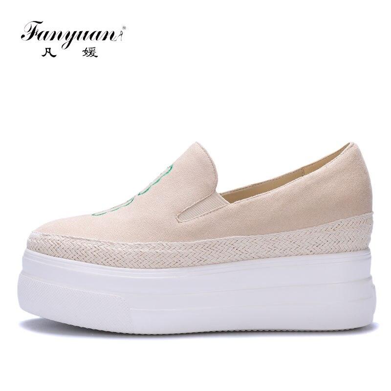 f0f9590ef Fanyuan 2018 Brand Female Footwear Shoes Elegant Embroider Casual Ladies  Fishermen Flat Shoes Fashion Women Flat