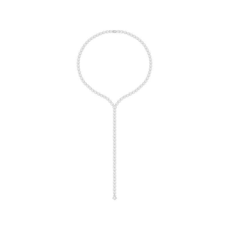 [MeiBaPJ] le grand sautoir en argent Sterling pur S925 européen et américain collier en Zircon AAA pour femmes bijoux fins