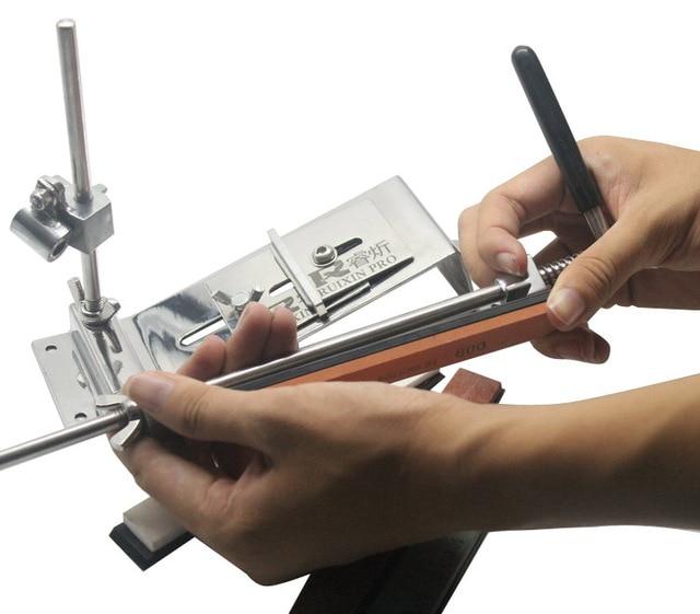 lansky stainless steel professional kitchen knife sharpener  system sharpen afiador de faca afilador cuchillos 4pcs stones