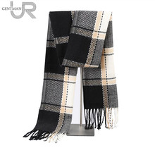 2017 Newest Fashion Men Scarves Imitation Cashmere Plaid Long Scarf Autumn And Winter Warm Soft Scarf
