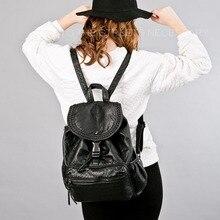 Рюкзак Для женщин мягкая овчина натуральная кожа сумка Для женщин рюкзак Mochila Feminina Школьные сумки для подростков